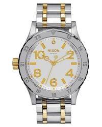 Nixon - Metallic 'the 38-20' Bracelet Watch - Lyst