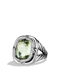 David Yurman | Metallic Labyrinth Ring with Prasiolite and Diamonds | Lyst
