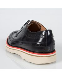Paul Smith - Blue Men's Dark Navy Leather 'grand' Brogues for Men - Lyst