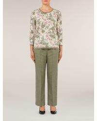 Eastex | Green Margherite Floral Jumper | Lyst