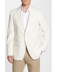 JB Britches | Brown 'Victor' Classic Fit Seersucker Stripe Cotton Sport Coat for Men | Lyst