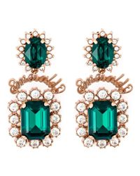 Mawi - Green 'emerald Slogan' Earrings - Lyst