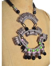 Kirsty Ward - Metallic Pewter & Black Statement Necklace - Last One - Lyst