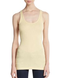 VINCE | Natural Jersey Tank | Lyst
