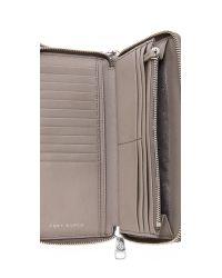 Tory Burch - Gray York Zip Continental Wallet - Mint Julep - Lyst