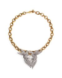 Lulu Frost - Metallic *new* Birds Of A Feather Statement Necklace - Lyst