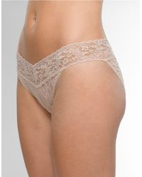 Hanky Panky | Natural Signature Lace Vikini Panties | Lyst