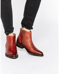 SELECTED | Brown Femme Bobi Cognac Leather Ankle Boots - Cognac | Lyst