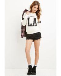 Forever 21 - Black Downtown La Varsity Sweater - Lyst