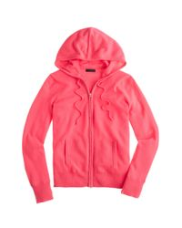 J.Crew - Pink Collection Cashmere Zip-front Hoodie - Lyst