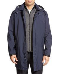 Cole Haan - Blue 3-in-1 Longline Rain Jacket for Men - Lyst