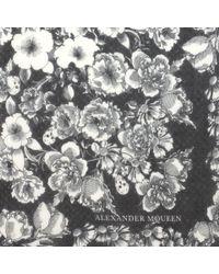 Alexander McQueen - White Floral Eaten Logo Scarf - Lyst
