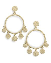 Karen Kane | Metallic Hoop Chandelier Earrings | Lyst