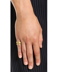Madewell - Metallic Double Ring - Vintage Gold - Lyst