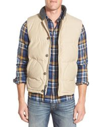 Lucky Brand - Natural Quilted Vest for Men - Lyst