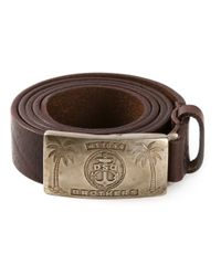 DSquared² - Brown Palm Tree Buckle Belt for Men - Lyst