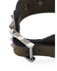 Valentino | Green 'Rockstud' Camouflage Bracelet for Men | Lyst