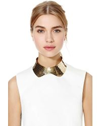 Nasty Gal - Metallic Etch Collar Necklace - Lyst