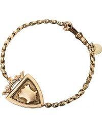 Annina Vogel - Metallic 9ct Rose-gold Antique Medallion Shield Bracelet - Lyst