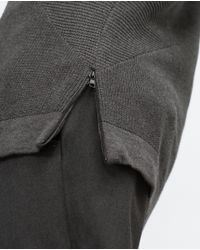 Zara | Gray Sweater With Zips for Men | Lyst