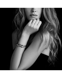 David Yurman | Metallic Cable Classics Bracelet With Diamonds And Gold, 7mm | Lyst