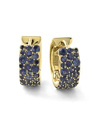 Ippolita | Blue 18k Glamazon Stardust Small Sapphire Hoop Earrings | Lyst