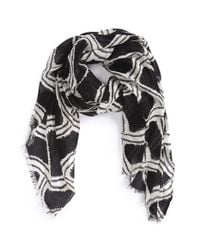 Maison Scotch | Black Tie Dye Scarf | Lyst
