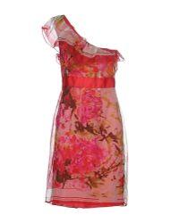 Renato Nucci - Red Knee-length Dress - Lyst