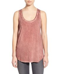 PAIGE - Red 'jessa' Stretch Jersey Tank - Lyst