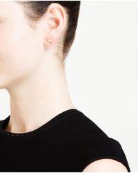 Natasha Collis - Metallic 18 Karat Gold Diamond Stud Earrings - Lyst