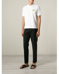 J.W.Anderson - White Embroidered Lemon Polo Shirt for Men - Lyst