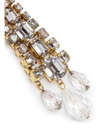 Erickson Beamon - Metallic 'temptress' Crystal Fringe Drop Earrings - Lyst