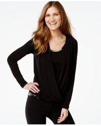 Calvin Klein | Black Layered-look Hardware-trim Top | Lyst