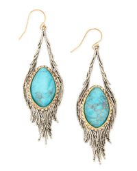 Alexis Bittar - Blue Elements Cholulian Turquoise  Silvery Feather Drop Earrings - Lyst