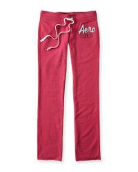 Aéropostale | Pink Aero 1987 Skinny Sweatpants | Lyst