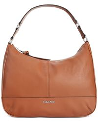 Calvin Klein | Brown Mary Pebble Hobo | Lyst