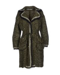 Ermanno Scervino - Green Coat - Lyst