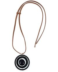 Marni - Blue Circular Pendant Necklace - Lyst