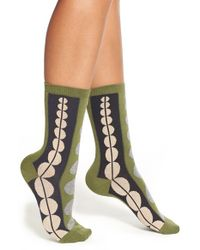 Falke - Green Dot Cotton Blend Crew Socks - Lyst