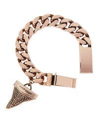 Givenchy   Pink Rose Golden Pave Crystal Shark Tooth Bracelet   Lyst