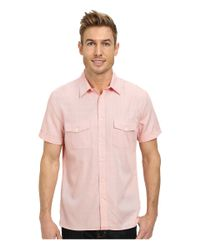 Perry Ellis | Pink Short Sleeve Oxford Shirt for Men | Lyst