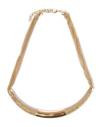 Chloé - Metallic Gold-tone Hope Semi Rigid Chain Collar Necklace - Lyst