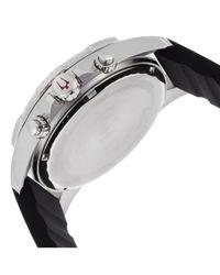 Bulova - Men's Marine Star Chronograph Black Rubber Black And Red Dial - Lyst