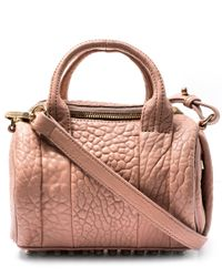 Alexander Wang | Pink Mini Rockie In Pebbled Blush With Pale Gold | Lyst