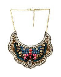 Forever 21 | Multicolor Bejeweled Bib Necklace | Lyst