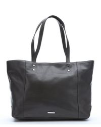 Rebecca Minkoff | Gray Charcoal Grey Leather 'Bowery' Tote | Lyst