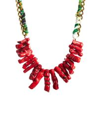 Pull&Bear - Red Coral Necklace - Lyst