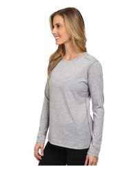 Brooks | Gray Distance Long Sleeve Top | Lyst