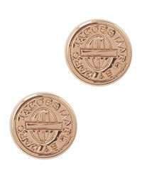 Marc By Marc Jacobs - Pink Rose Gold Tone Stud Earrings - Lyst