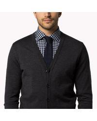Tommy Hilfiger | Gray Wool V-neck Sweater for Men | Lyst